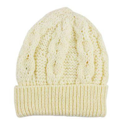 Merino Wool Knit Hat  Natural