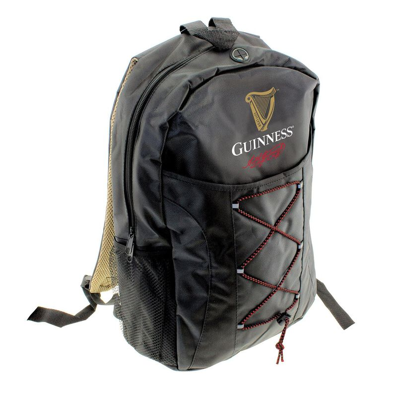 Black Guinness Livery Rucksack With Guinness Harp  Logo Signature