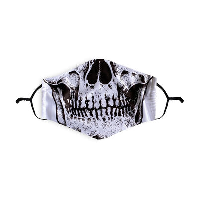 Re-Usable Halloween Face Covering Skeleton Design With Adjustable Ear Loops & Filter