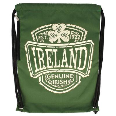 Genuine Irish Ireland College Designed Drawstring Bag