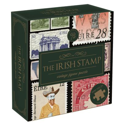 The Irish Stamp Beautifully Illustrated Vintage 1000 Pieces Jigsaw Puzzle