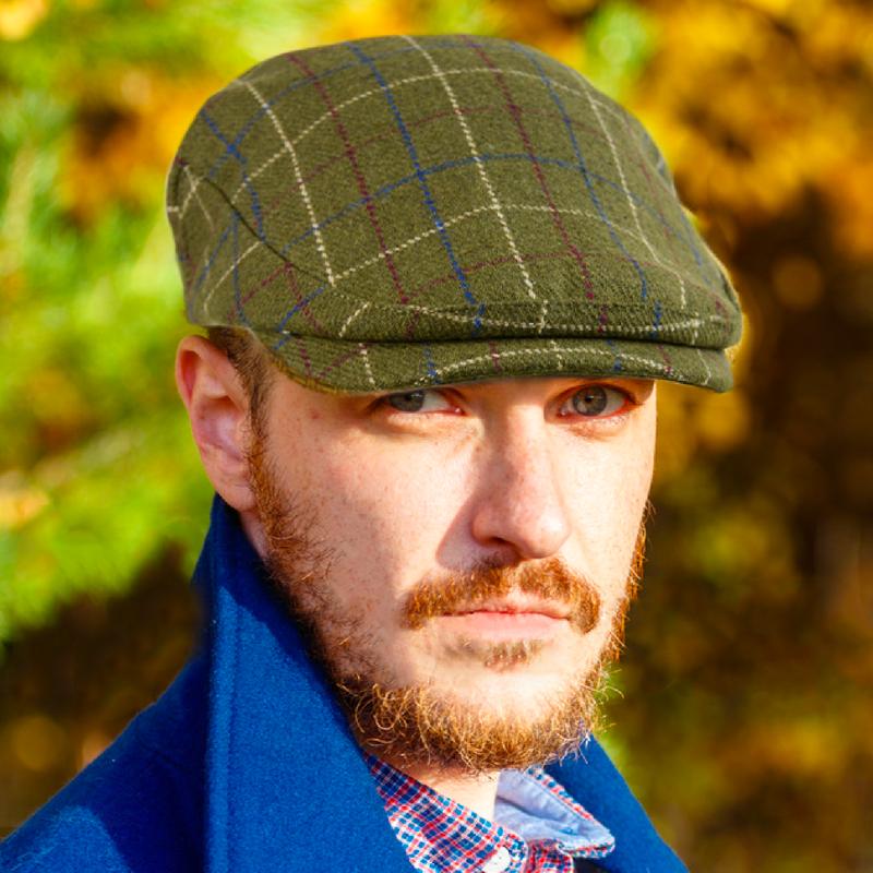 Irish Wool Blend Flat Cap