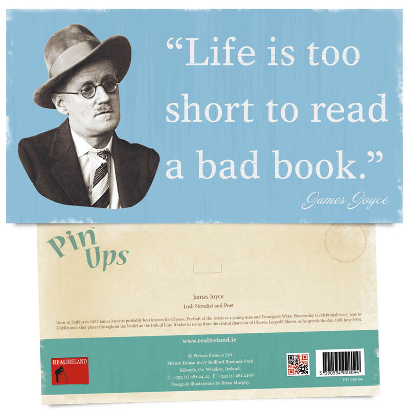 Pin Up Showing The Portrait of Famous Novelist and Poet James Joyce