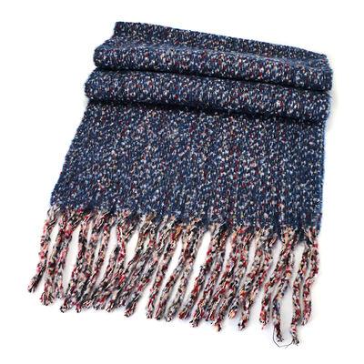 Celtic Ore Irish Knitwear New Wool Blend Wrap Chunky Scarf  Blue Colour