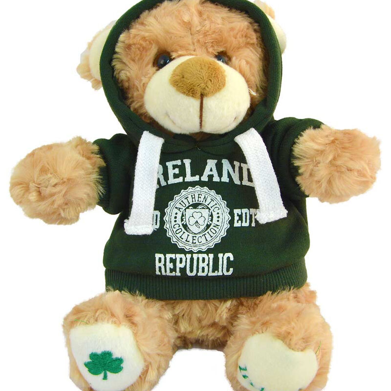Cream 20cm Teddy Bear With Ireland Republic LTD EDT With Hooded Top