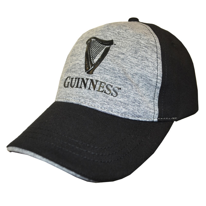 Black And Grey Guinness Performance Baseball Cap With Harp Design