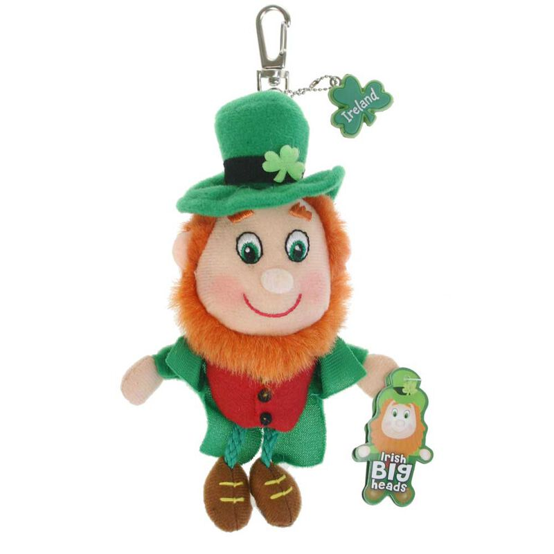 Soft Toy Keychain With Big Headed Leprechaun