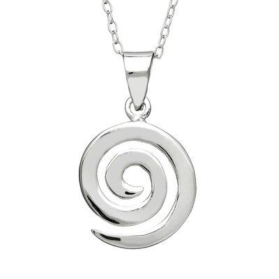 Hallmarked Sterling Silver Medium Spiral Designed Pendant