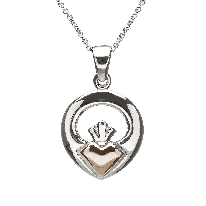 Hallmarked Sterling Silver Iconic Claddagh Pendant