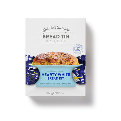 John McCambridge Satisflyingly Simple Hearty White Bread Kit Including Bread Tin & Mix Bag, 360g
