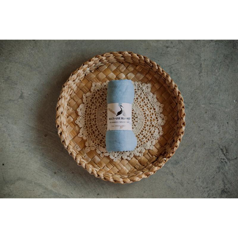 Storks & Co Bamboo Blanket, Blue Colour